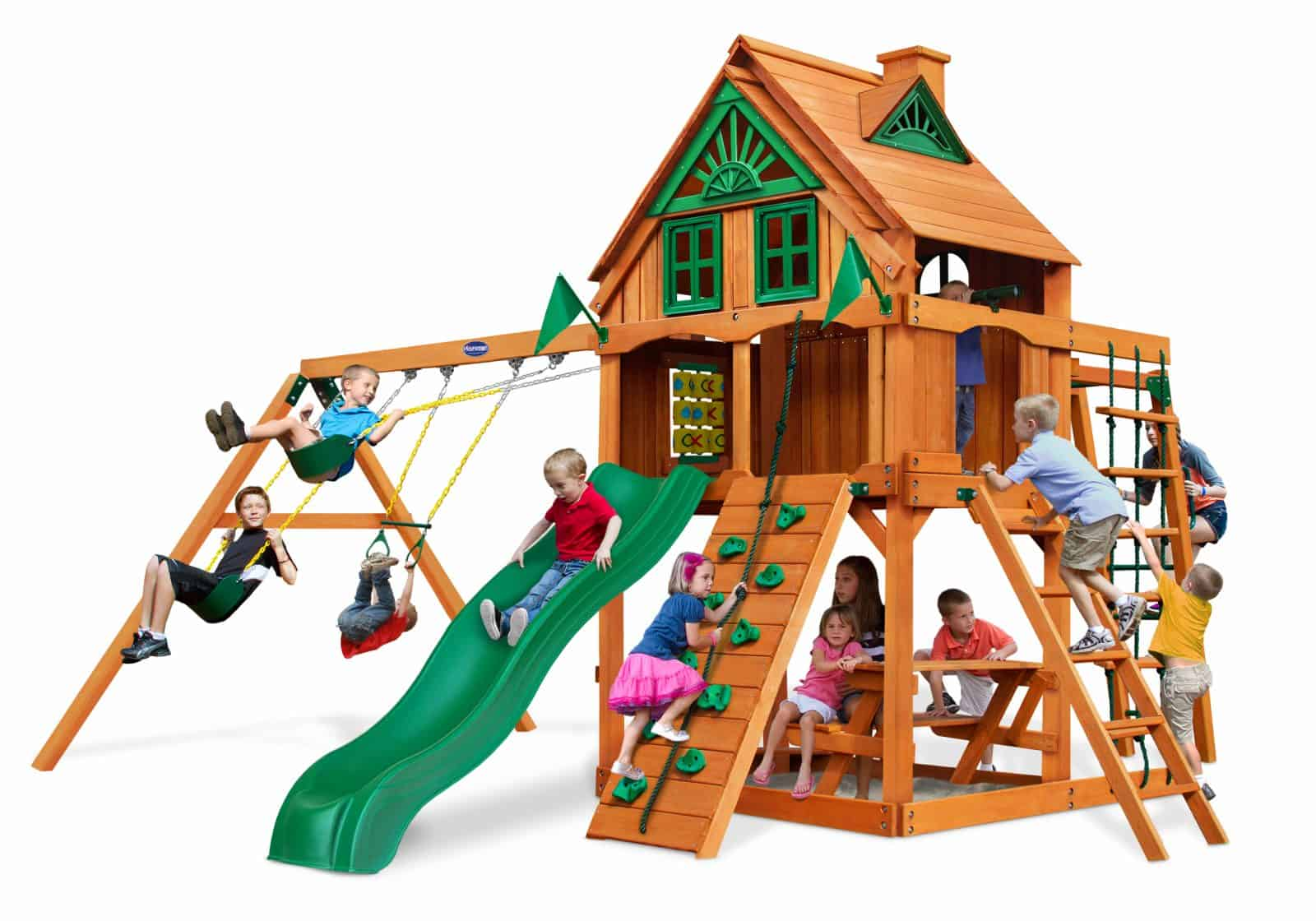 Cinnamon BEAR Fort Cayman Treehouse Fort Wooden Playset